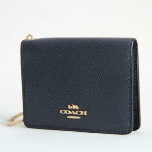 Coach Crossgrain Key ring Wallet